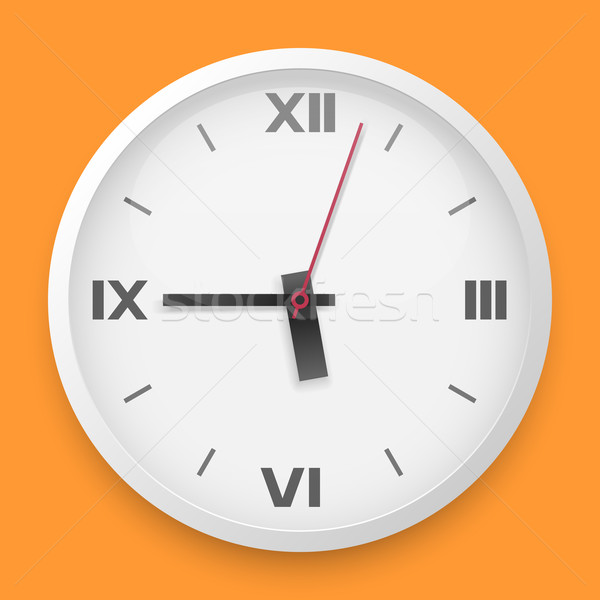 Stock photo: Round wall clock vector template