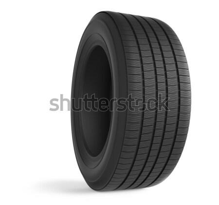 Automobile rubber winter tire isolated on white background. Stock photo © tuulijumala
