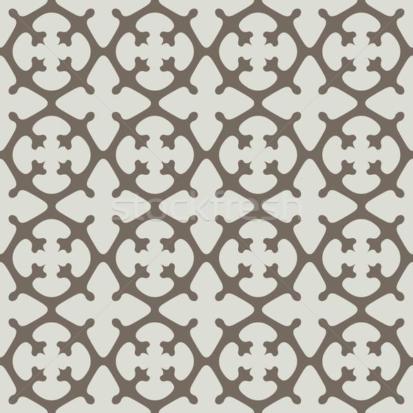 Sem costura bege simétrico vetor padrão textura Foto stock © tuulijumala