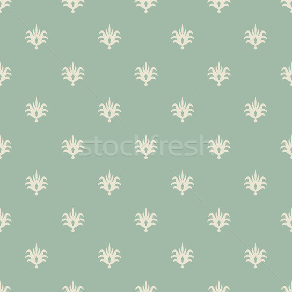 Seamless pale green and beige vintage wallpaper pattern. Stock photo © tuulijumala