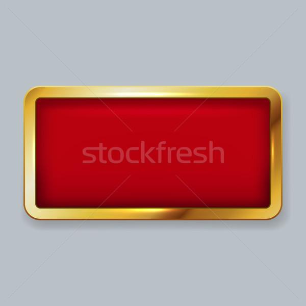 Arany keret piros bársony copy space vektor Stock fotó © tuulijumala
