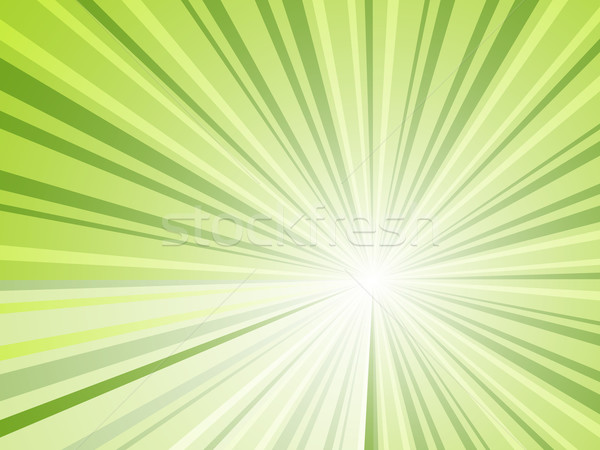 Abstract green rays horizontal vector background Stock photo © tuulijumala