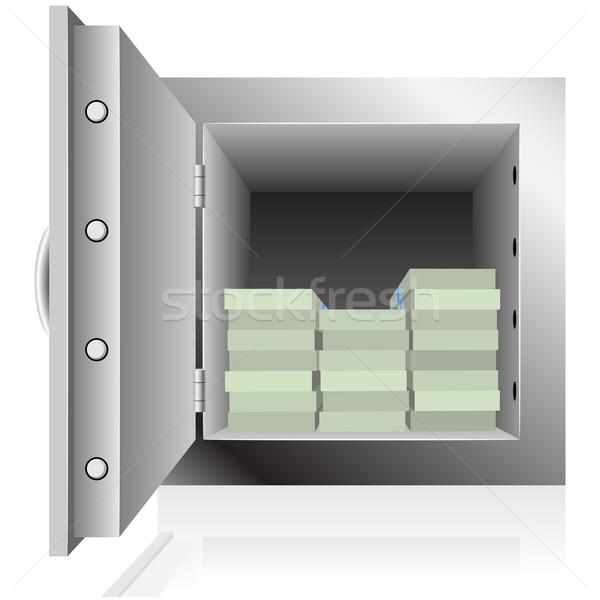 Staal veilig dollar merkt geïsoleerd Stockfoto © tuulijumala