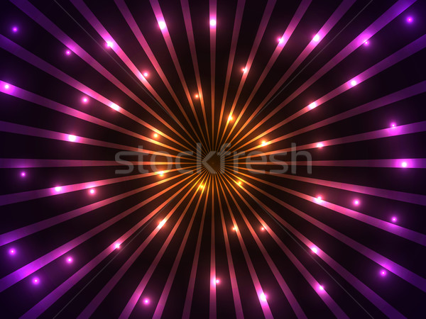 Stock photo: Colorful rays and lights vector background