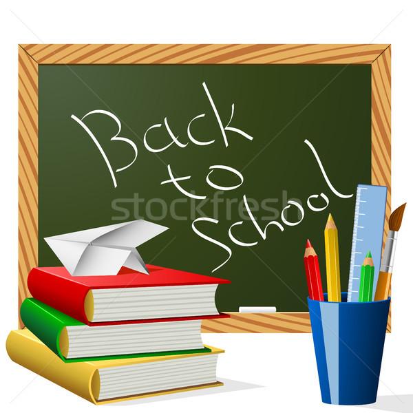 School jaar begin licht ontwerp potlood Stockfoto © tuulijumala