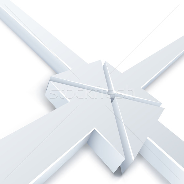 Abstract 4 white arrows meeting in one point Stock photo © tuulijumala