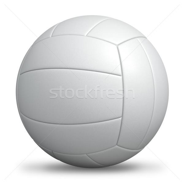 Bianco di serie pallavolo isolato sport palla Foto d'archivio © tuulijumala