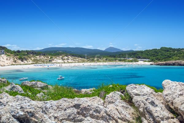 Arenal de Son Saura beach at Menorca island, Spain. Stock photo © tuulijumala