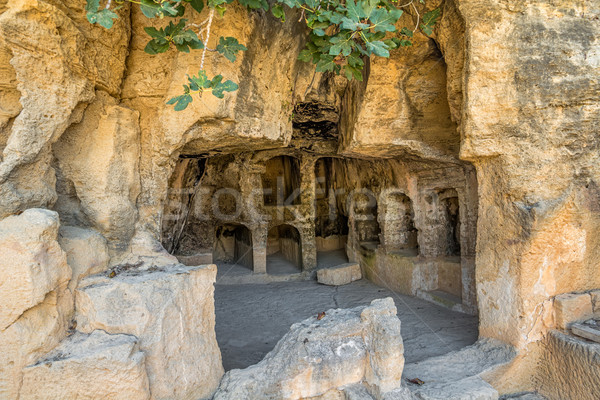 Interior of ancient remains of the Tombs of the Kings at Paphos, Stock photo © tuulijumala