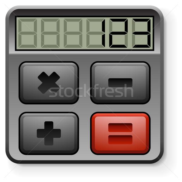Abstract calculator icon geïsoleerd witte kantoor Stockfoto © tuulijumala