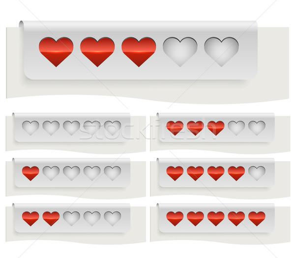 Rojo corazones estado bar plantilla aislado Foto stock © tuulijumala
