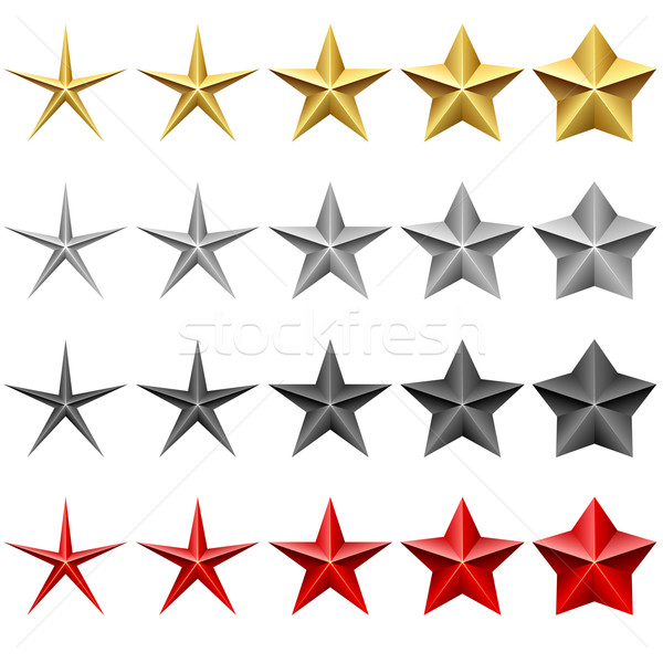 Star icons vector set isolated on white background. Stock photo © tuulijumala