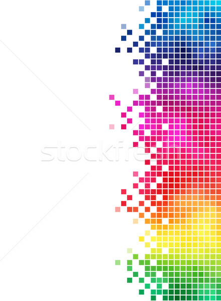 Colorful rainbow square mosaic side element. Stock photo © tuulijumala
