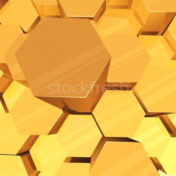 Geel 3D vector abstract licht Stockfoto © tuulijumala