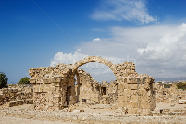 Saranta Kolones at Paphos Archaeological Park, Cyprus. Stock photo © tuulijumala