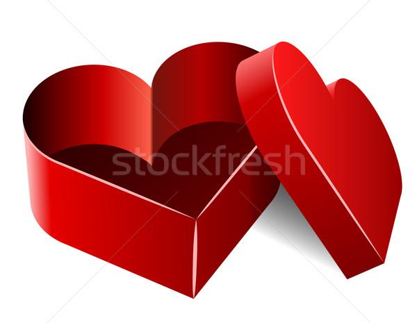 Pusty serca polu odizolowany Zdjęcia stock © tuulijumala
