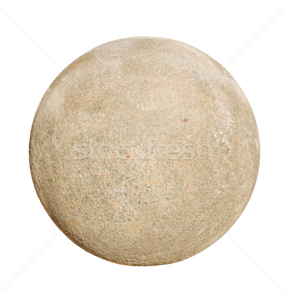 Granit taş top yalıtılmış beyaz doku Stok fotoğraf © tuulijumala