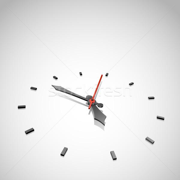 Abstract klok vector exemplaar ruimte gezicht werk Stockfoto © tuulijumala