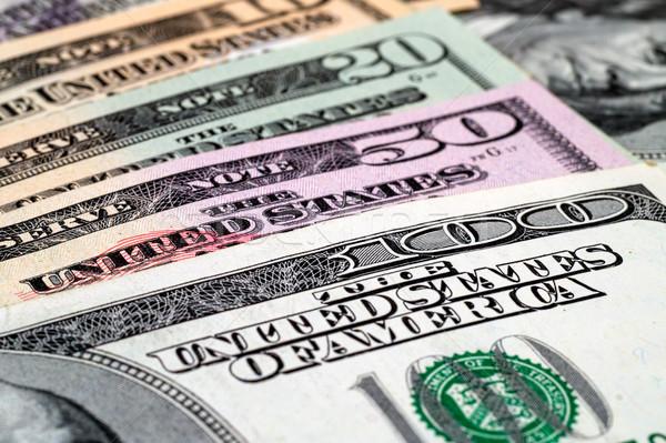 Close-up dollar bills background Stock photo © tuulijumala
