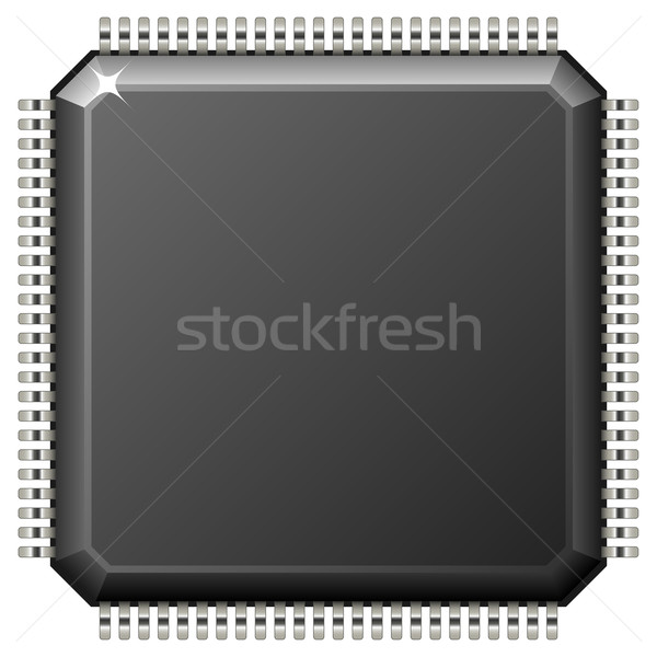 Vector illustration of microchip isolated on white background. Stock photo © tuulijumala