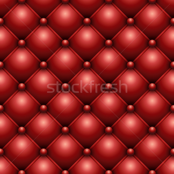 Seamless red buttoned leather upholstery texture. Stock photo © tuulijumala