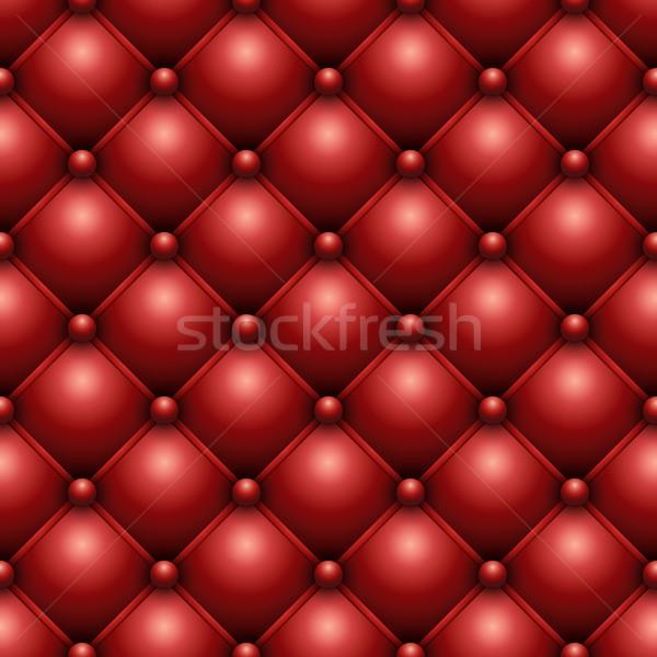 Végtelenített piros bőr kárpit textúra vektor Stock fotó © tuulijumala