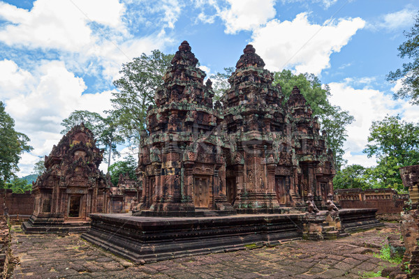Banteay Srei Temple main structures, Siem Reap, Cambodia. Stock photo © tuulijumala