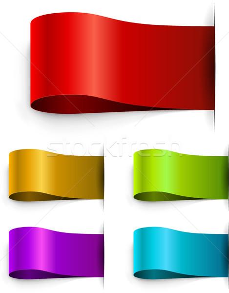 Color blank tags template Stock photo © tuulijumala