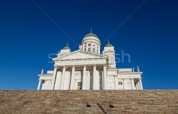 Helsinki Cathedral or St Nicholas' Church - the biggest landmark Stock photo © tuulijumala