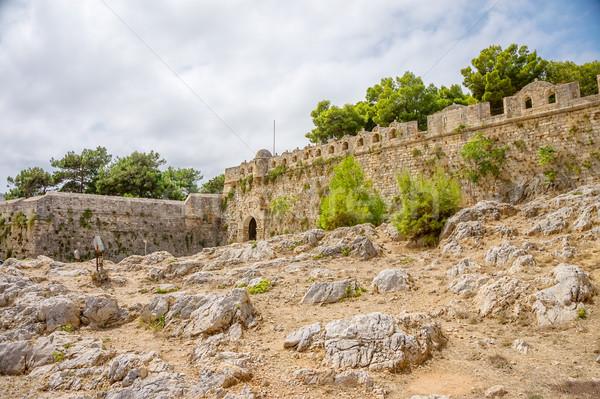 Ancient Fortezza of Rethymno wall at Crete, Greece. Stock photo © tuulijumala