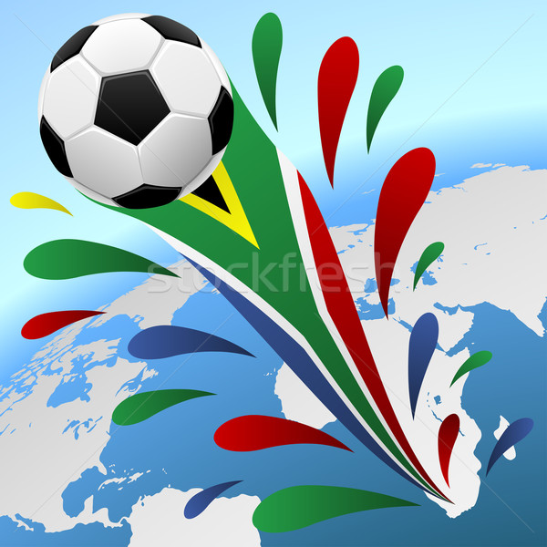 Soccer world cup South Africa background. Stock photo © tuulijumala