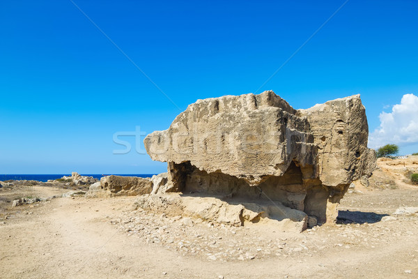 Ancient remains in the Tombs of the Kings archaeologica place at Stock photo © tuulijumala