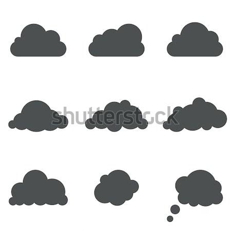 Czarno białe Chmura wektora szablon Internetu Zdjęcia stock © tuulijumala