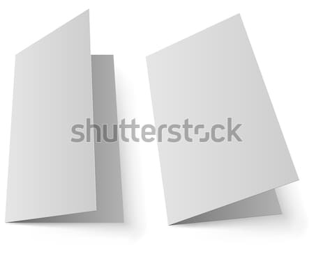 Blank greeting card vector template Stock photo © tuulijumala