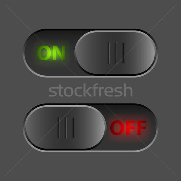 Siyah değiştirmek ui düğme vektör şablon Stok fotoğraf © tuulijumala