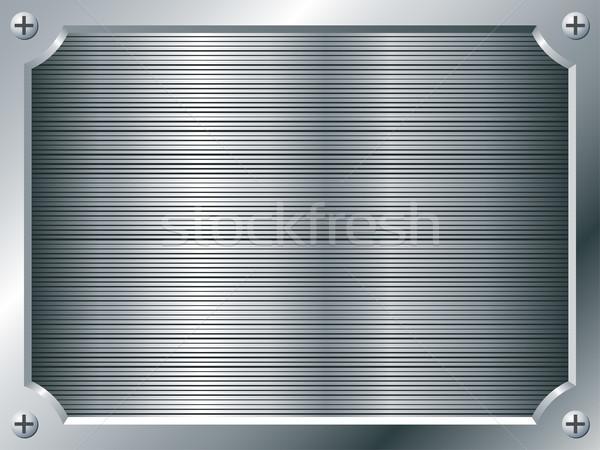 Blank metal plate vector background. Stock photo © tuulijumala