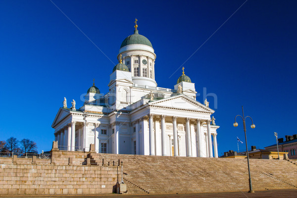 Helsinki cattedrale chiesa punto di riferimento città cielo Foto d'archivio © tuulijumala