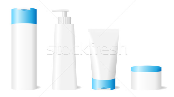 Ingesteld geïsoleerd witte gezicht haren Stockfoto © tuulijumala