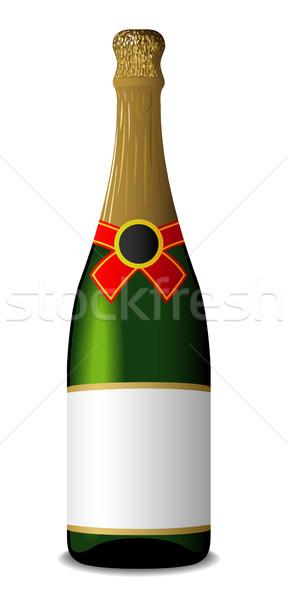Vector illustration of sealed blank champagne bottle isolated on Stock photo © tuulijumala