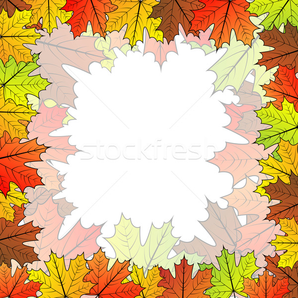 Esdoornblad vector exemplaar ruimte centrum natuur Stockfoto © tuulijumala