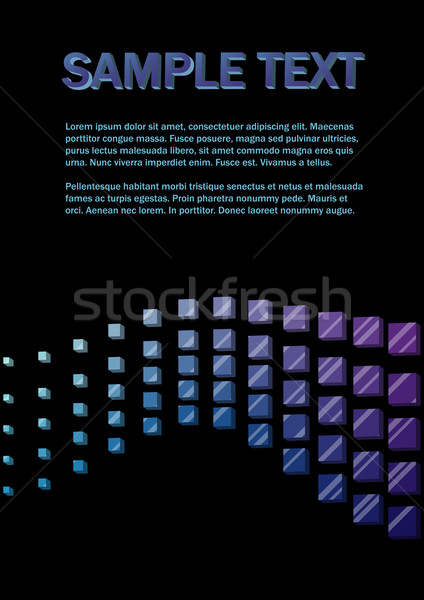3D golf Blauw violet vector Stockfoto © tuulijumala