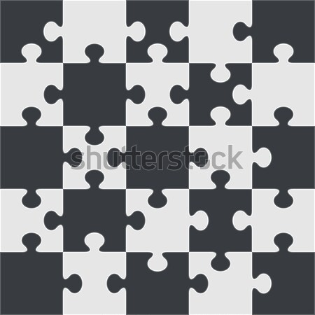 Puzzle vector template. Using puzzle pieces of this illustration Stock photo © tuulijumala