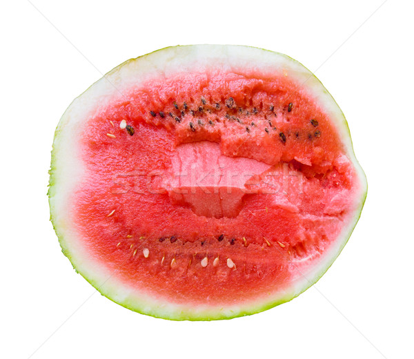 Watermelon red pulp isolated on white background. Stock photo © tuulijumala