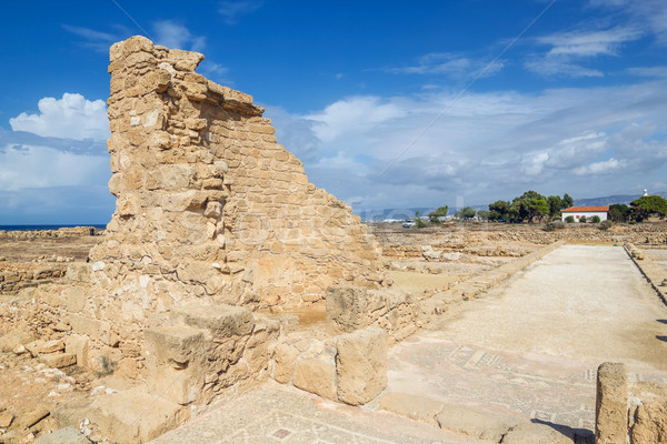 Paphos Archaeological Park in sunny day, Cyprus. Stock photo © tuulijumala