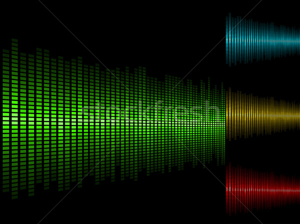Abstract waveform vector background in four color schemes. Stock photo © tuulijumala