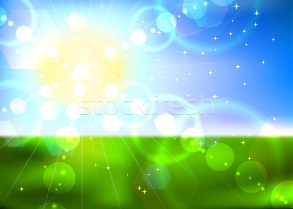 Summer sun vector background. Stock photo © tuulijumala