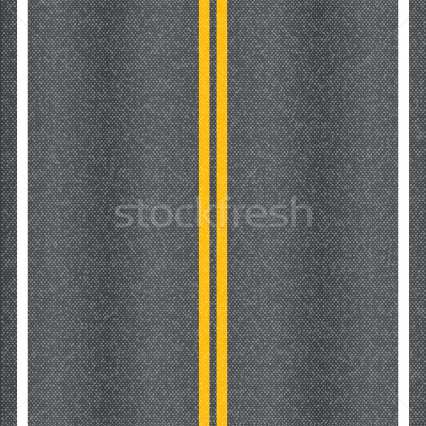 Asphalt road vector texture with marking lines. Stock photo © tuulijumala