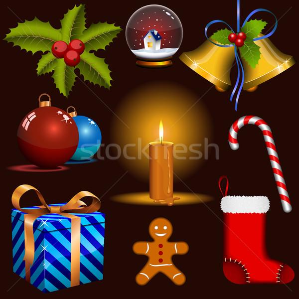 Christmas vector set. Eps8 – no transparency. Stock photo © tuulijumala