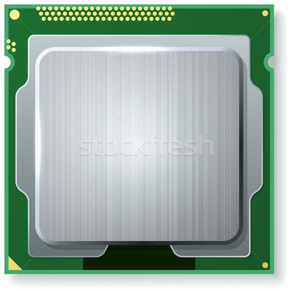 Nowoczesne komputera rdzeń jednostka CPU odizolowany Zdjęcia stock © tuulijumala