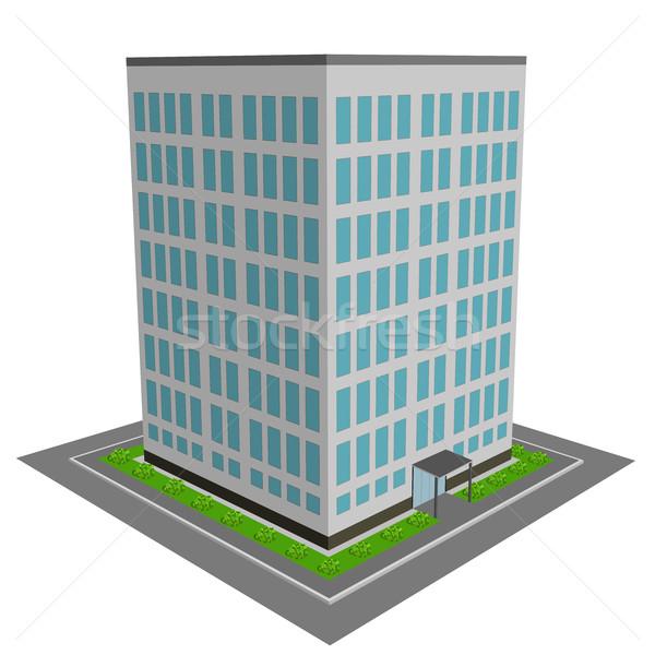3D prédio comercial projeto edifício cidade construção Foto stock © tuulijumala